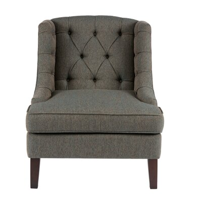 Hodgson Button Tufted Wingback Chair Upholstery: Blue Multi