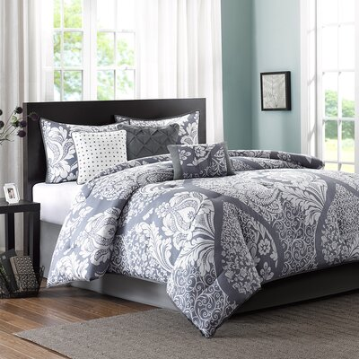 Goodwin 7 Piece Comforter Set Size: California King, Color: Gray