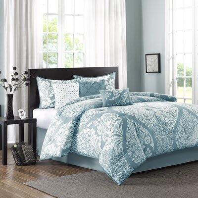 Goodwin 7 Piece Comforter Set Size: California King, Color: Blue