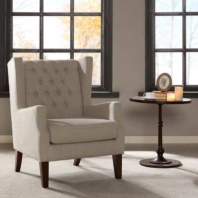 Allis Wingback Chair Upholstery: Linen