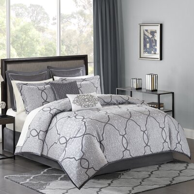 Dreiling 210 Thread Count Comforter Set Size: King, Color: Gray