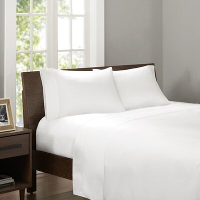 Drennan 320 Thread Count Sheet Set Size: King, Color: White