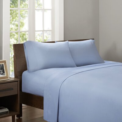 Drennan 320 Thread Count Sheet Set Size: Queen, Color: Blue