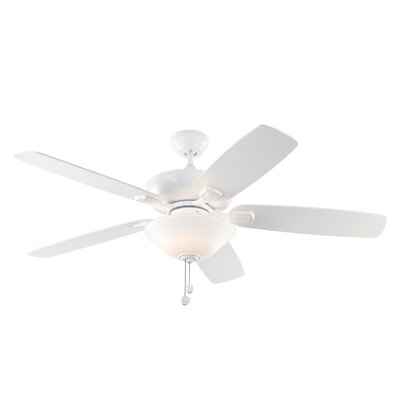 52 Gibraltar 5 Blade LED Ceiling Fan Motor Finish: Rubberized White