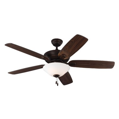 52 Gibraltar 5 Blade LED Ceiling Fan Motor Finish: Roman Bronze