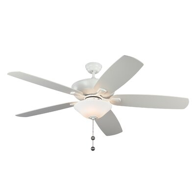 60 Gibsonia 5 Blade LED Ceiling Fan Motor Finish: Rubberized White