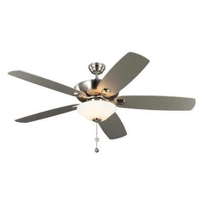 60 Gibsonia 5 Blade LED Ceiling Fan Motor Finish: Brushed Steel