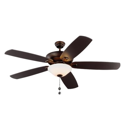 60 Gibsonia 5 Blade LED Ceiling Fan Motor Finish: Roman Bronze