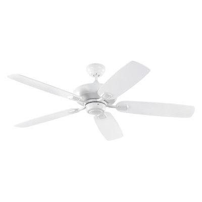 52 Geddes 5-Blade Ceiling Fan with Remote Motor Finish: Rubberized White