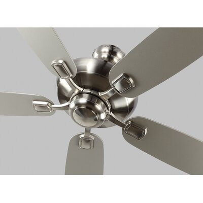 52 Geddes 5-Blade Ceiling Fan Motor Finish: Brushed Steel