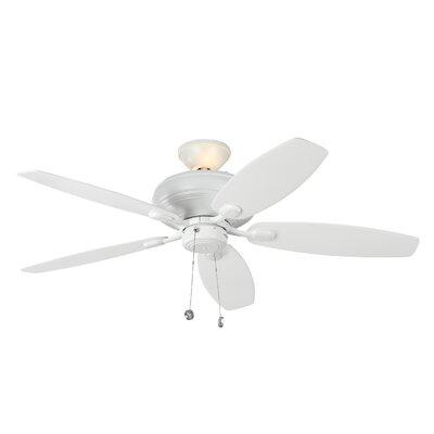 52 Garside 5 Blade LED Ceiling Fan Motor Finish: Rubberized White