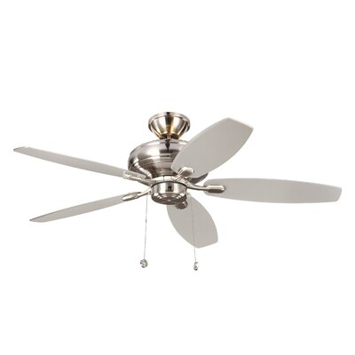 52 Garside 5 Blade LED Ceiling Fan Motor Finish: Brushed Steel