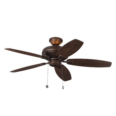 52 Garside 5 Blade LED Ceiling Fan Motor Finish: Roman Bronze