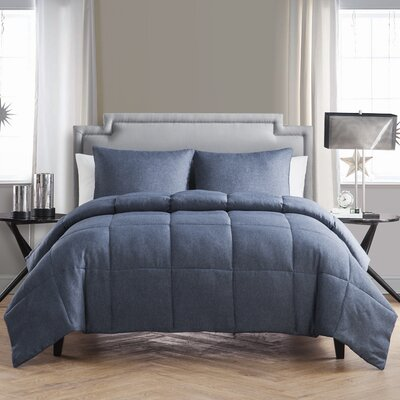 Finleyville Comforter Set Size: Queen, Color: Navy Denim