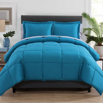 Forestport Bed in a Bag Color: Teal/Gray, Size: King ALCT8734 32999018