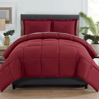 Forestport Bed in a Bag Color: Red/Taupe, Size: Queen ALCT8734 32999016