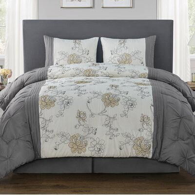 Dewart 4 Piece Comforter Set Size: Full/Queen