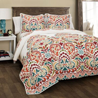 Arnaz 3 Piece Quilt Set Size: King