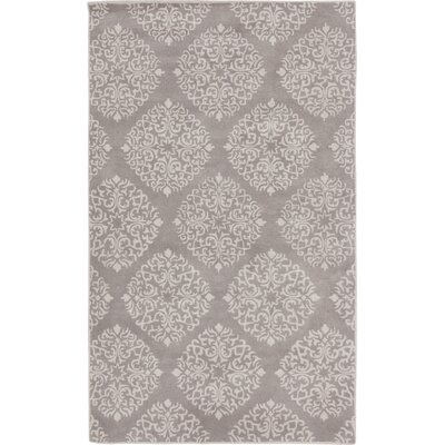 Rocky Hill Hand-Tufted Gray Area Rug Rug size: 5 x 8