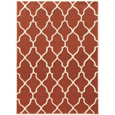 Wyndmoor Hand-Tufted Rust Area Rug Rug Size: 5 x 7