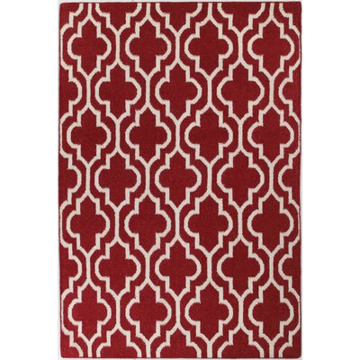 Girardville Red Area Rug Rug Size: 86 x 116