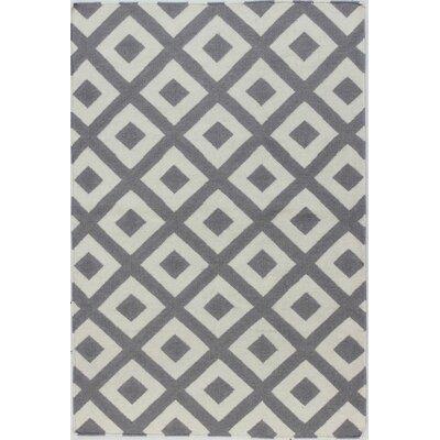 Girardville Hand Woven Wool Ivory & Grey Area Rug Rug Size: Runner 26 x 8