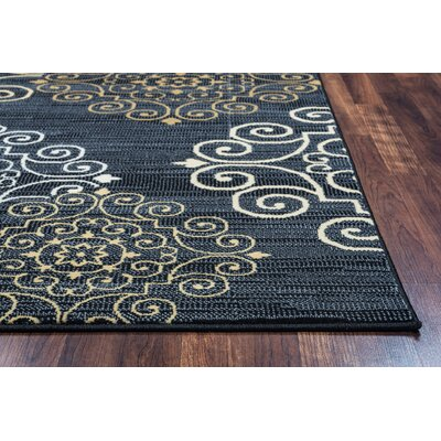 Greenside Blue Area Rug Rug Size: 67 x 96