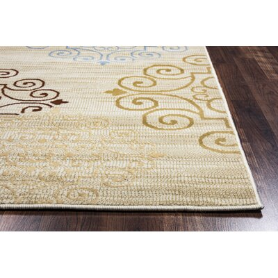 Greenside Khaki Area Rug Rug Size: 6'7 x 9'6