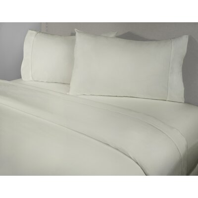 Harwinton 400 Thread Count 100% Cotton Sheet Set Size: Twin, Color: Ivory