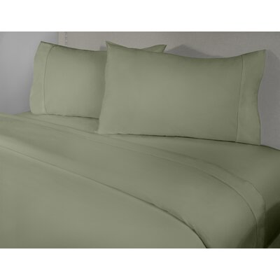 Harwinton 400 Thread Count 100% Cotton Sheet Set Size: King, Color: Sage