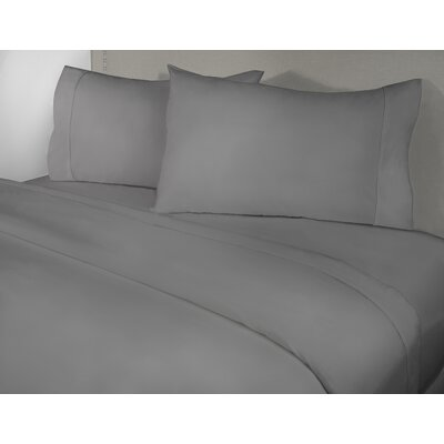 Harwinton 400 Thread Count 100% Cotton Sheet Set Size: Twin, Color: Gray