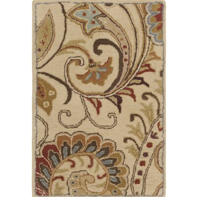 Forres Hand-Tufted Blue/Brown Area Rug Rug Size: 33 x 53