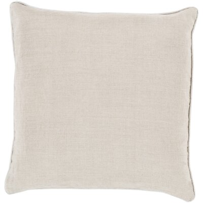 Haddam Piped Linen Throw Pillow Fill Material: Down