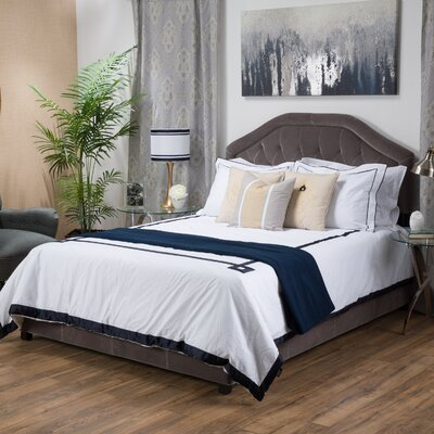 Haverford Upholstered Panel Bed Size: King