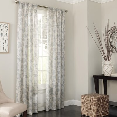 Keystone Nature/Floral Sheer Single Curtain Panel