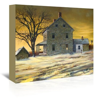 January Evening Painting Print on Wrapped Canvas