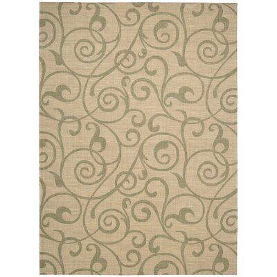 Janssen Light Gold Rug Rug Size: 53 x 75