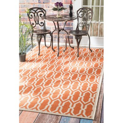 Levin Orange Indoor/Outdoor Area Rug