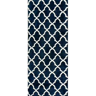 Natchez Navy Area Rug Rug Size: 26 x 8
