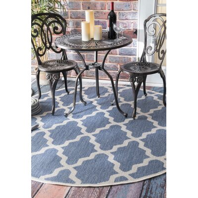 Sidell Blue Area Rug Rug Size: Round 6'3