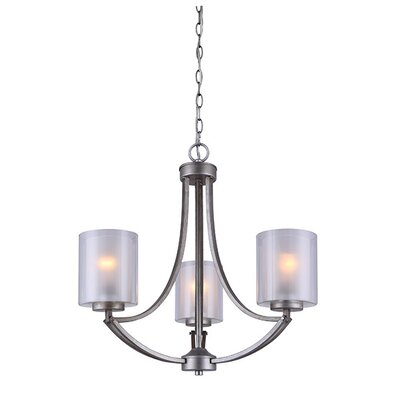 Merkle 3-Light Shaded Chandelier