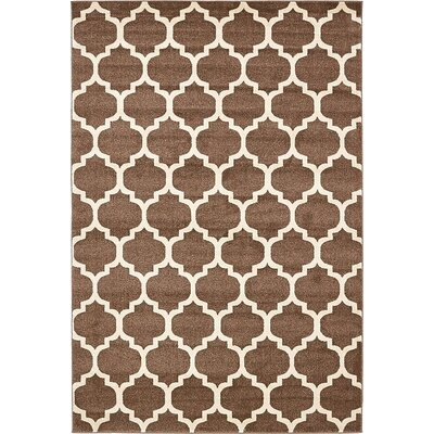 Emjay Light Brown Area Rug Rug Size: 6 x 9