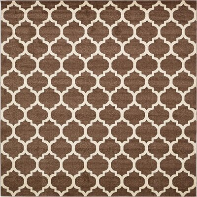 Emjay Light Brown Area Rug Rug Size: Square 10