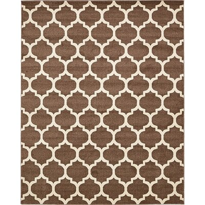 Emjay Light Brown Area Rug Rug Size: 8 x 10