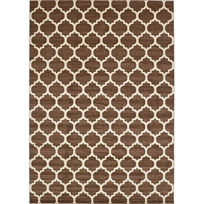 Emjay Light Brown Area Rug Rug Size: 10 x 14
