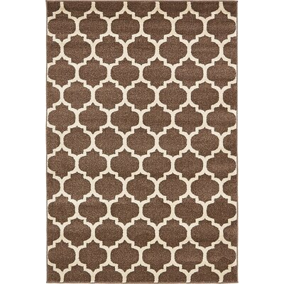 Emjay Light Brown Area Rug Rug Size: 4 x 6