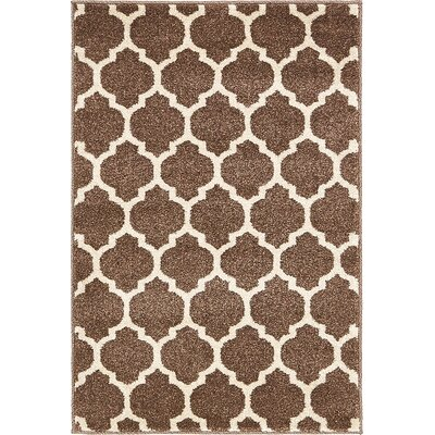 Alcott Hill Emjay Light Brown Area Rug