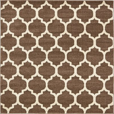 Emjay Light Brown Area Rug Rug Size: Square 6