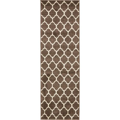 Moore Light Brown Area Rug Rug Size: Runner 27 x 198