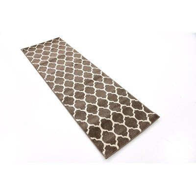 Emjay Light Brown Area Rug Rug Size: Runner 2 x 6